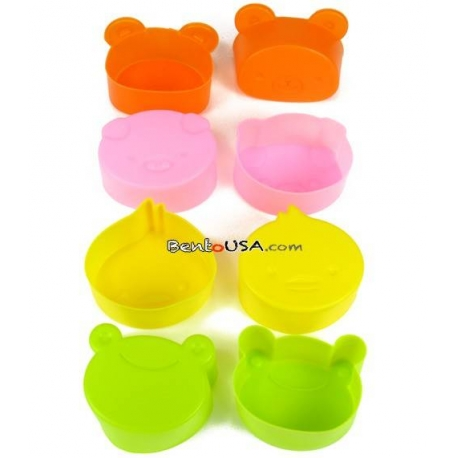 Microwavable Bento Thin Silicone Food Cup Animal