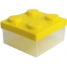 Microwavable Bento Block Snack Container Yellow