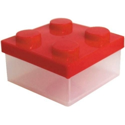 Microwavable Bento Block Snack Container Red