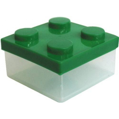 Microwavable Bento Block Snack Container Green
