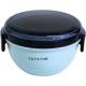 Round Lunch bowl Bento Box 2 tier Blue