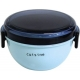 Round Lunch bowl Bento Box 2 tier Blue