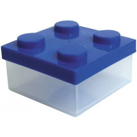 Microwavable Bento Block Snack Container Blue