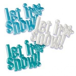 Food Decorating Topper Cake Topper Let it Snow