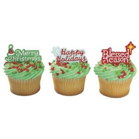 Food Decorating Pick Happy Holidays Message
