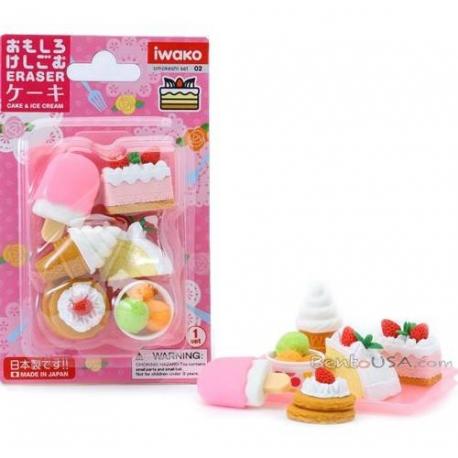 Cute Japanese Cake Ice Cream Puzzle Eraser Set
