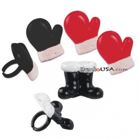 Food Decorating Ring Mitten and Boot Rings