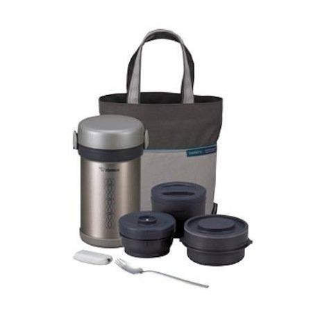 Zojirushi Ms Bento Stainless Lunch Jar with Fork 3 Jars