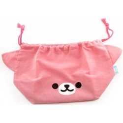 Japanese Bento Lunch Drawstring Bag with Ears - Bear