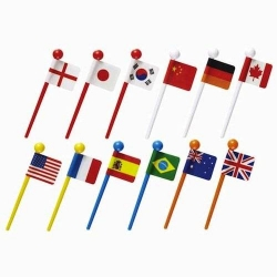 Japanese Bento Food Pick world Flags 12 pcs