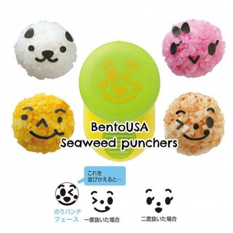 Japanese Bento Nori Puncher Seaweed Cutter Cute Face