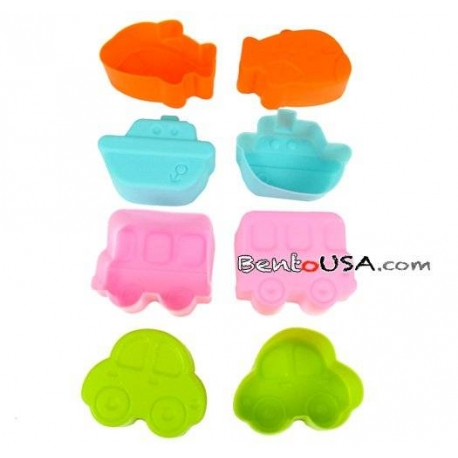 Microwavable Bento Thin Silicone Food Cup Vehicle Car