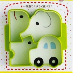Japanese Sandwich Cutter Car Dog Elephant Whale