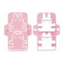 Japanese Bento Decoration Ham Cheese Cutter Rabbit and squrl