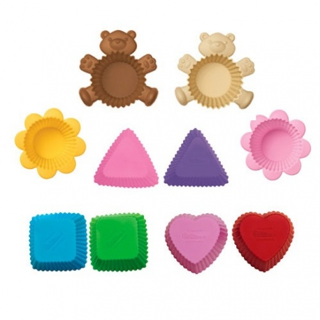 Japanese Bento Accessories Silicone Food Cup Bear Brown
