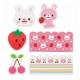Rabbit Microwavable Bento Baran Food Partition Sheet Set 18pcs