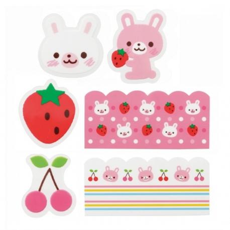 Rabbit Microwavable Bento Baran Food Partition Sheet Set 18pcs