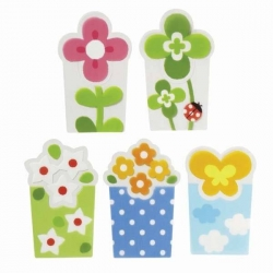 Microwavable Bento Baran Food Divider Sheet Set Flower Garden