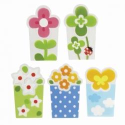 Microwavable Bento Baran Food Divider Sheet Set Flower Garden