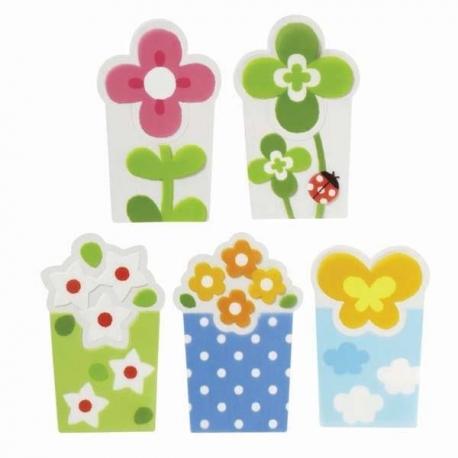 Microwavable Bento Baran Food Divider Sheet Set Flower