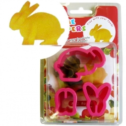 Japanese Bento Accessories Cookie Cutter Set 3D Rabbit