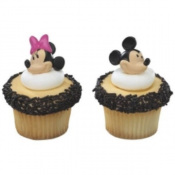 Food Decorating Ring Mickey and Minnie Mouse