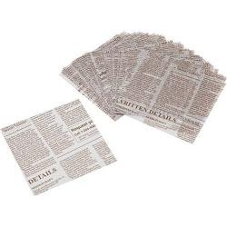 Newspaper Designed Wax Paper Sandwich Wrapping Sheet 50 pcs