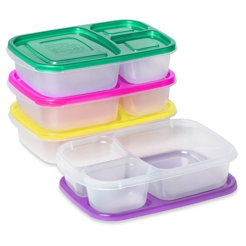 easylunchboxes bento lunch box pack of 4 bright for bento box all. Black Bedroom Furniture Sets. Home Design Ideas
