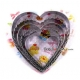 Bento Decoration Ham Cheese Cookie Cutter Heart Cut Out
