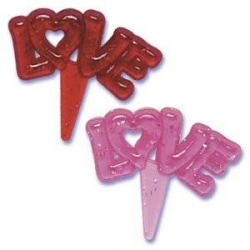 Food Decorating Pick Puffy Pick Love