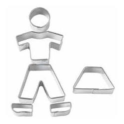 Bento Decoration Accessories Cookie Cutter People Cute 6 pcs