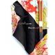 Polka Dot Chopsticks with Case and strap Orange