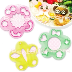 Decorative Bento Essential Cutter Ham Cheese Cutter Set 18 Shapes