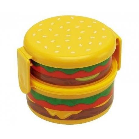 japanese cheese burger 2 tier bento lunch box for bento box all. Black Bedroom Furniture Sets. Home Design Ideas