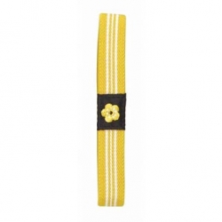 Japanese Bento Box Elastic Belt Lunch Box Bento Strap Yellow Flower