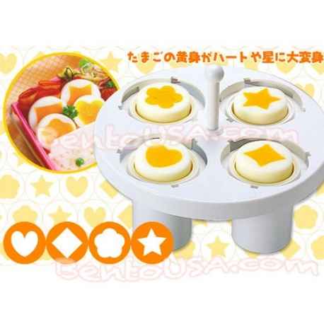 Japanese Kitchen Hard Boiled Egg Yolk Mold 4 Shapes