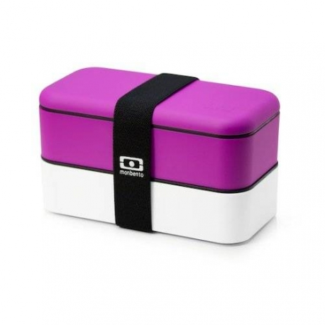 Mon bento Lunch box fuschia/white