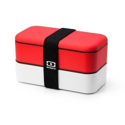 monbento Bento Lunch box Red and white