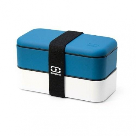 Mon bento Lunch box Blue and White