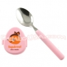 Japanese Bento Box Cutlery Spoon with Squirrel Case Pink