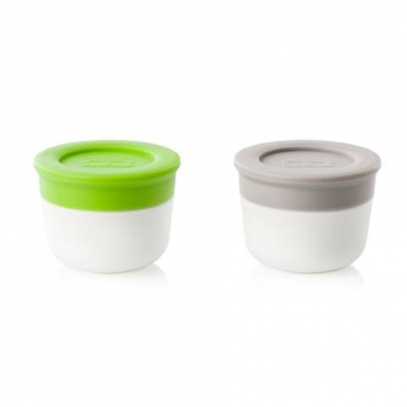 monbento Sauce Container Dipping Mayo Cup Gray and Green