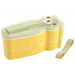 Japanese Slim 2 tier Bento Box Bear Set