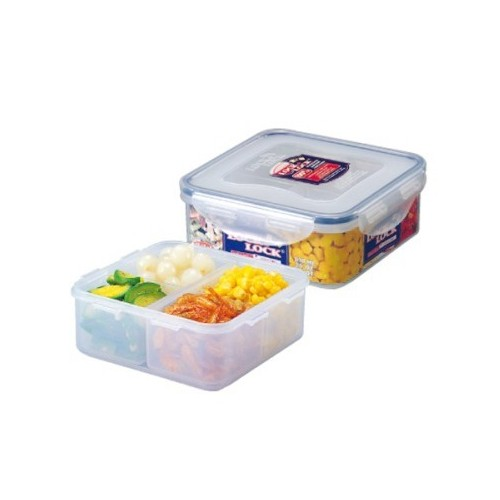 Microwavable Airtight 4 Sections Bento Lunch Box BPA Free Dishwashe