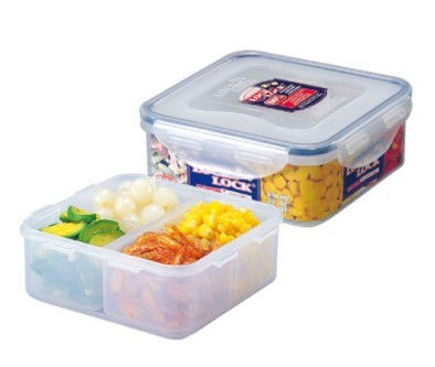 microwavable airtight 4 sections bento lunch box bpa free. Black Bedroom Furniture Sets. Home Design Ideas