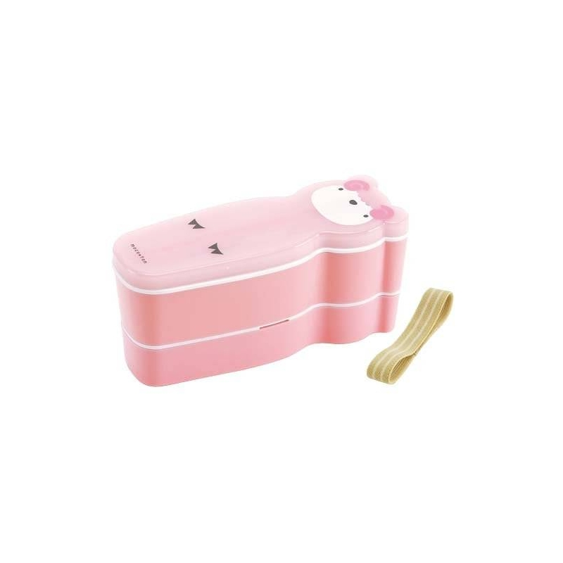japanese slim 2 tier bento box sheep set pink for bento box all. Black Bedroom Furniture Sets. Home Design Ideas