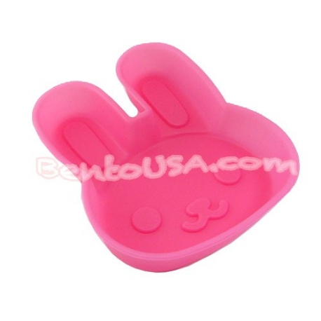 Microwavable Bento Silicone Food Cup Baking Pink Rabbit