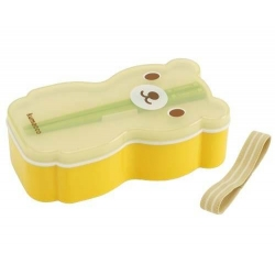 Japanese Bento Lunch Box Set Bear with Chopsticks