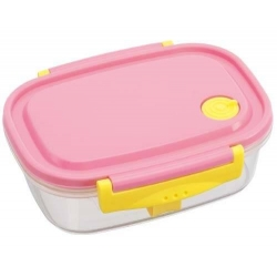 Fully Microwave Tight Bento Lunch Box Pink 720 ml