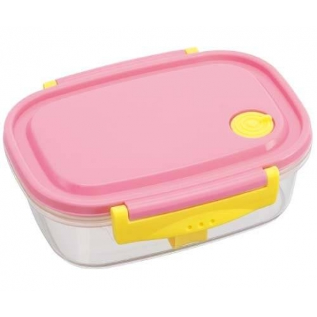 Fully Microwave Bento Lunch Box Pink