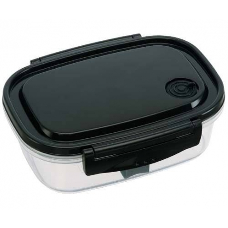 Fully Microwave Bento Lunch Box Black